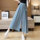 skirt Summer 2021 S M L XL Black Pink Blue longuette commute High waist A-line skirt Solid color Type A 25-29 years old XH1120#36 91% (inclusive) - 95% (inclusive) Leisure trace other pocket Korean version New polyester 95% other 5% Pure e-commerce (online only)