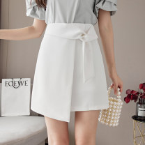 skirt Summer 2021 S M L XL White black Short skirt Versatile High waist A-line skirt Solid color Type A 25-29 years old XH7753#32 91% (inclusive) - 95% (inclusive) Chiffon Leisure trace other zipper New polyester 95% other 5% Pure e-commerce (online only)