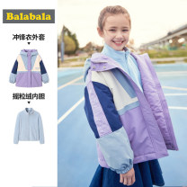 Cotton padded jacket female No detachable cap other Bala Violet 7350 purple 7131 140cm 150cm 160cm 165cm thickening Zipper shirt leisure time There are models in the real shooting other other Class C other Polyester 100% Winter of 2019 winter