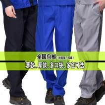 Work uniform Other / other 160 (s), 165 (m), 170 (L), 175 (XL), 180 (2XL), 185 (3XL), 190 (4XL), 195 (5XL) worker Lower garment Factory workshop Cotton blended fabric 2019 Large size