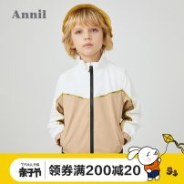 Jacket / leather Annil / anel male Mibai Qinghu lvyuanlihong 110cm 120cm 130cm 140cm 150cm 160cm 170cm other leisure time spring and autumn routine nothing Zipper shirt There are models in the real shooting EB015006-242845 stand collar Polyester 100% Spring 2020