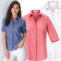 shirt Blue, red, white, for illustration only Summer 2020 cotton 96% and above elbow sleeve Original design Medium length Polo collar Single row multi button Solid color Button oxford