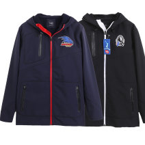 Jacket Other / other Fashion City Black, blue, Navy, for illustration only S / tiled bust 112, M / tiled bust 118, L / tiled bust 124, XL / tiled bust 128, XXL / tiled bust 132170cm75kg wear m, US size, chest embroidery logo uncertain routine standard motion Four seasons Polyester 100% Long sleeves