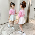 suit ZUOBINEN Pink 110cm 120cm 130cm 140cm 150cm 160cm female summer Korean version Short sleeve + pants 2 pieces Thin money There are models in the real shooting Socket nothing Solid color cotton elder Expression of love ZBN2021112 Class B Other 100% Summer 2021 Chinese Mainland Zhejiang Province