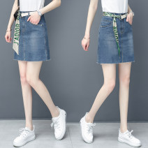 skirt Spring 2021 26/S 27/M 28/L 29/XL 30/2XL 31/3XL blue Middle-skirt Versatile High waist Denim skirt other Type A 25-29 years old QMH-184-52 71% (inclusive) - 80% (inclusive) Qian meihui cotton Cotton 74.5% polyester 19.2% viscose 3.9% polyurethane elastic 2.4% Pure e-commerce (online only)