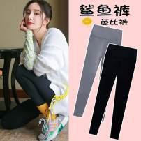 Leggings Summer 2021 Gray, black 2/S,3/M,4/L,5/XL,6/2XL Thin money trousers Brother amashsin nylon 71% (inclusive) - 80% (inclusive)
