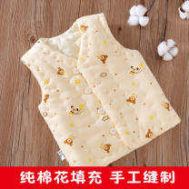 Vest neutral Yellow bear vest (cotton) pink tree vest (cotton) blue car vest (cotton) 73cm 80cm 90cm 100cm 110cm 120cm 130cm WONDERFUL NOTE winter thickening No model Single breasted ethnic style Pure cotton (100% content) Cartoon animation Cotton 100% Class A other Cotton liner Autumn of 2019