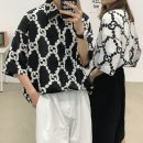 shirt Jane page Youth fashion Thin money square neck elbow sleeve easy Other leisure summer 5-15-017 youth Polyester 100% Japanese Retro 2021 Dot Summer 2021 Non iron treatment printing Pure e-commerce (online sales only) M L XL 2XL 017 black 017 white