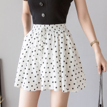 skirt Summer of 2019 M L XL White black Short skirt commute High waist A-line skirt Dot Type A 25-29 years old More than 95% Qian Yuanqian other Korean version Other 100% Pure e-commerce (online only)