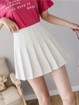 skirt Summer of 2019 S M L XL White black blue pink Short skirt commute High waist A-line skirt Solid color 25-29 years old y-9383-ming12 More than 95% Qian Yuanqian other Korean version Other 100% Pure e-commerce (online only)