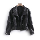 leather clothing Other / other Spring 2021 S,M,L,XL black routine Long sleeves Straight cylinder commute other zipper routine LKK41081 25-29 years old 96% and above