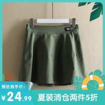 skirt Summer of 2019 M,2XL,XL,L,S White, black, Dark Khaki, green Short skirt Natural waist A-line skirt Solid color Type A 25-29 years old A3728272 51% (inclusive) - 70% (inclusive) other Other / other cotton