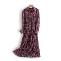Dress Spring 2021 The color of coffee base is reddish brown S,M,L,XL longuette singleton  Long sleeves commute Elastic waist Decor Socket routine Others 25-29 years old Other / other Korean version More than 95% other other