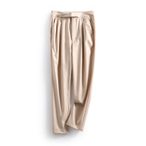 Casual pants khaki S,M,L,XL Spring 2021 trousers Straight pants Natural waist commute routine 25-29 years old 96% and above LKK26121 Other / other other