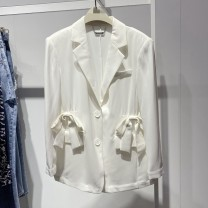 suit Summer 2021 white XS,S,M,L Long sleeves easy tailored collar 25-29 years old 81% (inclusive) - 90% (inclusive) nylon Peacebird