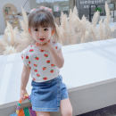 Vest sling Off white Sleeveless 90cm 100cm 110cm 120cm 130cm 140cm summer Lu Guli female There are models in the real shooting leisure time other Crew neck other Class A Summer 2020 They were 2 years old, 3 years old, 4 years old, 5 years old, 6 years old, 7 years old and 8 years old