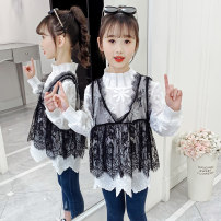suit Other / other Two piece black and white jacket, three piece black and white jacket + trousers 100cm,110cm,120cm,130cm,140cm,150cm,160cm female spring and autumn Korean version other 2 pieces routine There are models in the real shooting Socket nothing other other children Learning reward LGXW