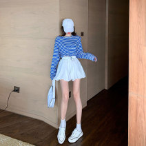skirt Summer 2020 Average size Green top blue top white skirt green top + White Skirt Blue Top + white skirt Short skirt commute High waist Pleated skirt Solid color 0501M580 81% (inclusive) - 90% (inclusive) Make up wadding polyester fiber Korean version Polyester 85% other 15%