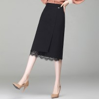 skirt Spring 2020 2XL 3XL 4XL m waist 2 / 27 1 / 28 2 / 29 black Mid length dress Versatile High waist skirt Solid color Type H HB12010911 More than 95% Peter cat other Other 100.00% Pure e-commerce (online only)