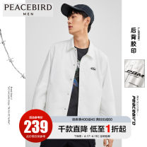 Jacket Peacebird Fashion City White 1 white S M L XL XXL XXXL XXXXL routine easy Other leisure spring BWBCA1438-260670 Polyester 100% Long sleeves Wear out Lapel tide youth routine Single breasted Straight hem Loose cuff other Spring 2020 Button decoration Pure e-commerce (online only) other
