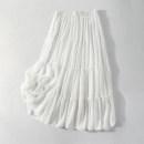 skirt Spring 2021 J White, black Mid length dress High waist Solid color Type A XZ06044/J/0.3