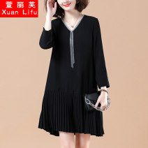Women's large Summer 2020 Picture color M L XL 2XL 3XL 4XL 5XL Dress singleton  commute easy thin Socket Long sleeves Korean version V-neck other 2008X09L8F Xuanlifu 30-34 years old Medium length Other 100% Pure e-commerce (online only) other