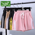 Sports pants / shorts female S (recommended 80-100 kg), m (recommended 100-115 kg), l (recommended 116-125 kg), XL (recommended 126-145 kg), XXL (recommended 146-155 kg) Black yellow edge, pink white edge, khaki white edge, black white edge Other / other unknown shorts
