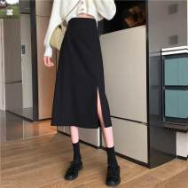 skirt Autumn 2020 S,M,L,XL Apricot, black, bluish grey longuette commute High waist A-line skirt Solid color Type A 18-24 years old N25563 31% (inclusive) - 50% (inclusive) other Other / other other
