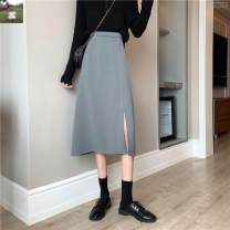 skirt Autumn 2020 S,M,L,XL Apricot, black, bluish grey longuette commute High waist A-line skirt Solid color Type A 18-24 years old N47772 31% (inclusive) - 50% (inclusive) other Other / other other