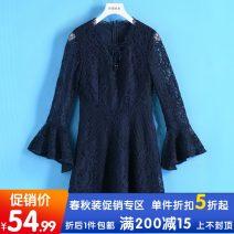 Dress Autumn of 2019 Navy, Caramel S,M,L,XL Other / other
