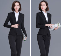 Professional pants suit S,XL,L,M,2XL,3XL,4XL Winter of 2018 loose coat Long sleeves trousers Other / other 18-25 years old