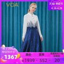 Dress Autumn 2020 Dark blue butterfly (A82) 155/S 160/M 165/L 170/XL 175/XXL 180/XXXL Mid length dress singleton  Long sleeves street Polo collar middle-waisted Decor Single breasted Big swing shirt sleeve Others 30-34 years old Type X VOA Fringes stitched with gauze net AE380 More than 95% brocade