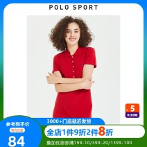 T-shirt Black, gray, red, topaz, dark green S,M,L,XL,2XL Summer of 2019 Short sleeve Polo collar Straight cylinder Medium length routine commute cotton 86% (inclusive) -95% (inclusive) 25-29 years old literature classic Polo Sport 82PK43180-82