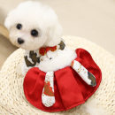 Pet clothing / raincoat currency Dress XS (suitable for 2-3 kg) s (suitable for 3-5 kg) m (suitable for 5-8 kg) l (suitable for 8-10 kg) XL (suitable for 10-13 kg) 2XL (suitable for 13-18 kg) Alberti leisure time New year red Koi skirt (double thickness) ABD-A2502