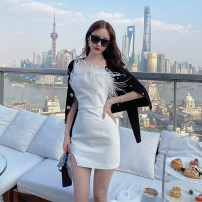 Dress Winter 2020 Black, white XS,S,M,L Q1801