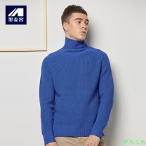 T-shirt / sweater M-maicco / Merck other 170/M,175/L,180/XL,185/XXL,190/3XL thickening Socket Do not turn high collar Long sleeves winter Slim fit 2018 leisure time Simplicity in Europe and America youth Solid color washing Regular wool (10 stitches, 12 stitches) other Rib bottom pendulum