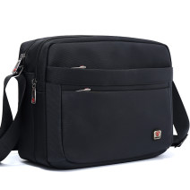 Men's bag The single shoulder bag oxford Yuexiu Huangxin Atmospheric black, elegant black brand new leisure time Business / OL zipper hard in no Zipper bag, mobile phone bag, certificate bag Solid color nothing Single root middle age Horizontal square polyester fiber Sewing Three dimensional bag