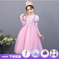 Children's dress female 110cm,120cm,130cm,140cm,150cm Other / other full dress Class B pure cotton Cotton 50% polyester 50% Three, eight princess