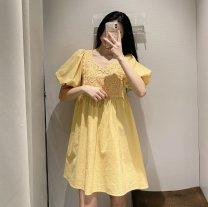 Dress Spring 2021 Yellow, white S,M,L TRAF