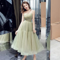 Dress / evening wear Weddings, adulthood parties, company annual meetings, daily appointments XS S M L XL XXL XXXL Green [zipper] green [bandage] Korean version Medium length middle-waisted Summer 2017 Skirt Princess Sling type Bandage 18-25 years old AT191162 Sleeveless Solid color Yuanting other