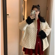 Women's large Spring 2021 gules Other oversize styles singleton  commute Long sleeves Solid color Korean version V-neck routine 81% (inclusive) - 90% (inclusive) Medium length