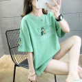 T-shirt White, green, pink M,L,XL,2XL Summer 2021 Short sleeve Crew neck easy Regular routine commute cotton 30% and below 18-24 years old Korean version youth letter Other / other TTA080 printing