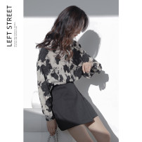 skirt Winter 2020 S,M,L black Middle-skirt commute other 18-24 years old polyester fiber printing