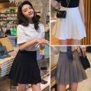 skirt Winter 2020 XS / waist 60cm (75-85kg, S / waist 64cm (85-95kg, XL / waist 76cm (115-125kg, 2XL / waist 80cm (125-140kg, M / waist 68cm (95-105kg, L / waist 72cm (105-115kg Short skirt High waist Pleated skirt bow