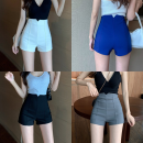 Casual pants S,M,L Summer 2020 shorts Wide leg pants High waist commute routine 18-24 years old 81% (inclusive) - 90% (inclusive) Five point five Other / other cotton Korean version polyester fiber