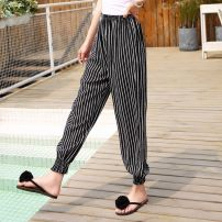 Casual pants S,M,L,XL,XXL Spring of 2018 Ninth pants Knickerbockers original Thin money 96% and above Others 59