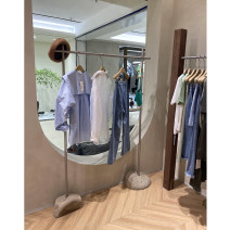 Clothing display rack Silver wire drawing 120 * 170 (clothes pole 1.6m), silver wire drawing 150 * 170 (clothes pole 1.6m), silver wire drawing 120 * 160, silver wire drawing 150 * 160, Silver Size customization, please contact customer service clothing stainless steel Official standard 120x40x160cm