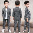 suit Other / other grey 110cm,120cm,130cm,140cm,150cm,160cm,170cm male spring and autumn college Long sleeve + pants 2 pieces routine There are models in the real shooting Zipper shirt No detachable cap Solid color chemical fiber children Expression of love 17Q399 Other 100% Chinese Mainland