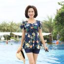 Split swimsuit Skirt split swimsuit With chest pad without steel support Polyester, others Crew neck