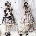 Dress Winter of 2019 S,M,L Middle-skirt singleton  elbow sleeve Sweet Crew neck middle-waisted other other other routine Others 18-24 years old Type A other other Lolita